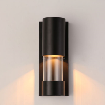 PLASMA INDOOR/OUTDOOR BALCONY WALL LIGHT WITH GLASS SHADE