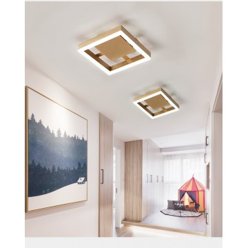 ARCHER GOLD AISLE WALKWAY BEDROOM CEILING LIGHT (ROUND/ SQUARE)