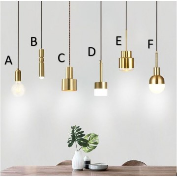 AESIR COPPER GOLD ISLAND BAR COUNTER PENDANTS (6 DESIGNS)