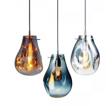 BASILLE NORTHEN EUROPE ORGANIC COLOURED GLASS PENDANT LAMP