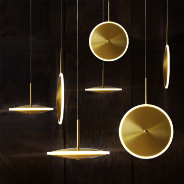 EKINOX POSTMODERN UFO HANGING LIGHT (GOLD/ ROSE GOLD)