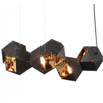 VANITY DNA CUBOID PUZZLE BLOCK WITH INNER GLOSS PENDANT (BLACK/ WHITE)