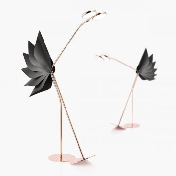 BLIX DESIGNER INSPIRED CREATIVE FIERY ROSE GOLD FLAMINGO