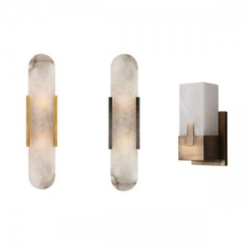 DUSK VINTAGE ALABASTER MARBLE EUROPEAN WALL LAMP SERIES