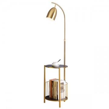 YURA TOUGHENED GLASS TABLE & RACK COMPLETE FLOOR LAMP