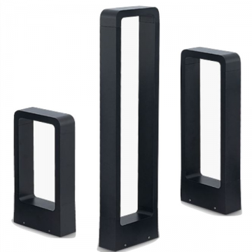 CLOVIS OUTDOOR MODERN TALL RECTANGULAR BOLLARD