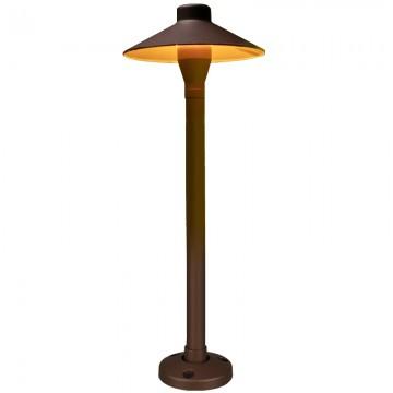 FRANCIS VINTAGE DIE-CAST ALUMINIUM IP65 WALNUT GRAIN OUTDOOR POST LAMP (SPIKE/ BOLLARD)