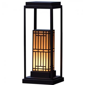 PALOMA STYLISH ORIENTAL JAPANESE VILLA OUTDOOR IP54 MARBLE BOLLARD LIGHT
