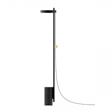 AZURE NORDIC BLACK MARBLE BASE DIMMABLE FLOOR LAMP