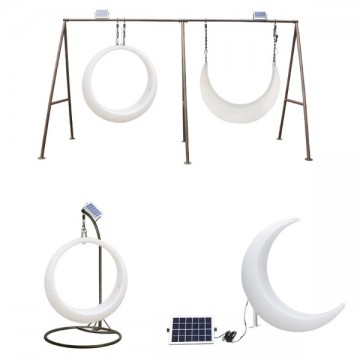 FELA OUTDOOR NEON LED SOLAR POWERED PLAYGROUND LIGHTS (CHAIR/ SWING)