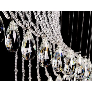 BELLE RAINDROP MODERN CRYSTAL CHANDELIER