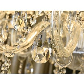 BLIGHT CLASSIC CRYSTAL CHANDELIER AND REINFORCED GLASS