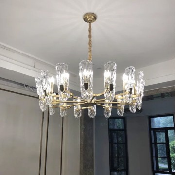 EPIN MODERN CRYSTAL GLASS CUP CHANDELIER (ROUND/ RECTANGULAR)
