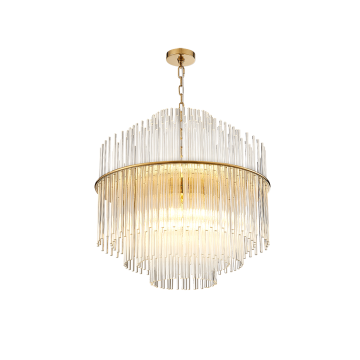 FADESCENT GLASS ROD CHANDELIER (ROUND/ RECTANGULAR)