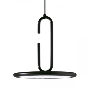 FERMOSA SLEEK ROUND BLACK MODERN OFFICE HANGING PENDANT