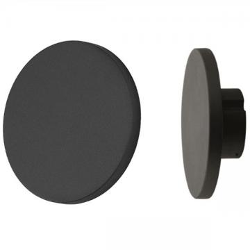 RAVEN OUTDOOR MODERN ROUND FLAT WALL LIGHT (BLACK/ GREY)